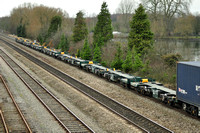 New ECO-Fret wagons in the consist of 4O27 Garston - Southampton | Hinksey.