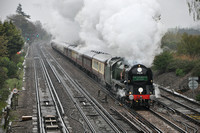 "1Z91 London Victoria - Exeter St Davids | Worting Junction | 35028 ""Clanline"""